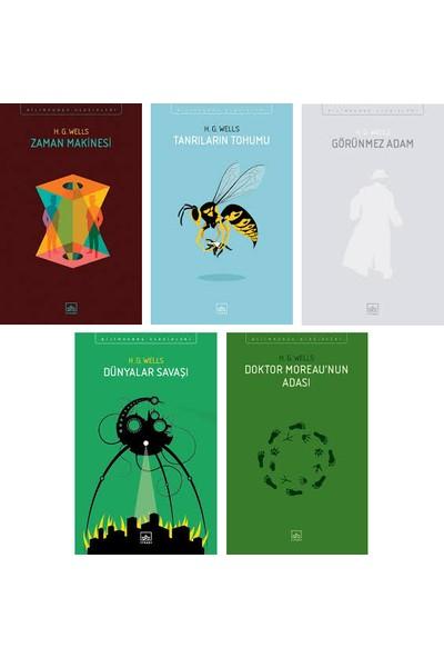 İthaki Yayınları Bilim Kurgunun Babası H. G. Wells 5 Kitap Set - Zaman Makinesi - Tanrıların Tohumu - Görünmez Adam - Dünyalar Savaşı - Doktor Moreau'nun Adası