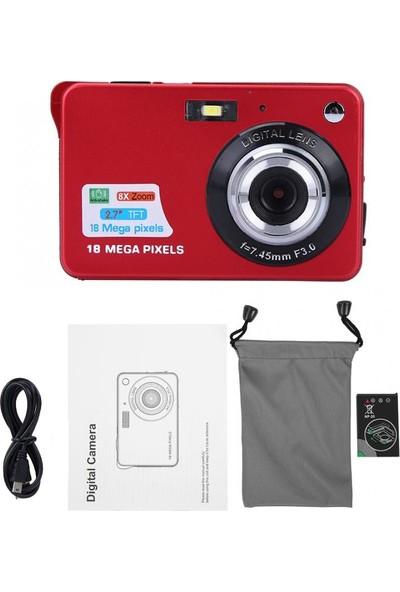 """Andoer 2,7 """" 18 Mp Tft LCD Ekran Hd 720P Dijital Kamera Kırmızı"""