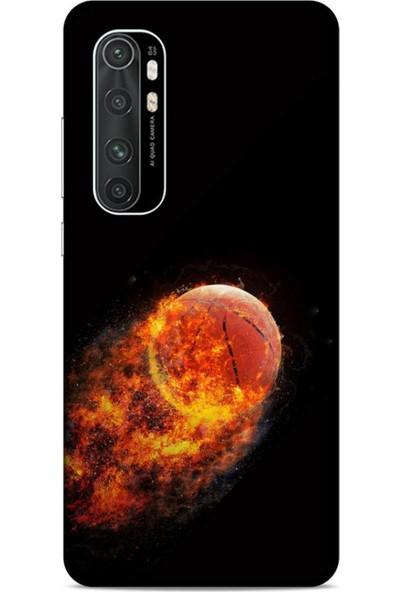 Lopard Xiaomi Mi Note 10 Lite Uyumlu Kılıf Firex (32) Soft Silikon Kılıf Basketbol Topu