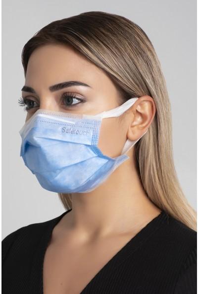 Safetouch Yeni Nesil Elastik Kulaklıklı Tekli Ambalajlı Maske/30 Adet