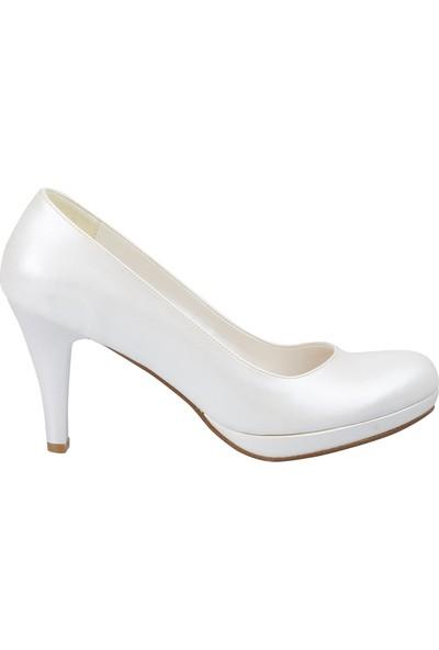 Marcamiss 2016 Kadın Abiye Ayakkabı Krem