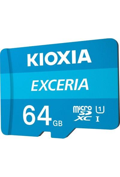Kioxia 64GB Exceria Micro SDXC UHS-1 C10 100MB/sn Hafıza Kartı (LMEX1L064GG2)