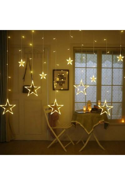 Nettenevime LED Işık Dekoratif Süs Fişli ve 8 Fonksiyonlu Dev Yıldız Sarkaç