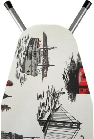 Hanedanev Keçeli Isıya Dayanıklı Ütü Masası Örtüsü Kılıfı Ütü Bezi 140X50 cm