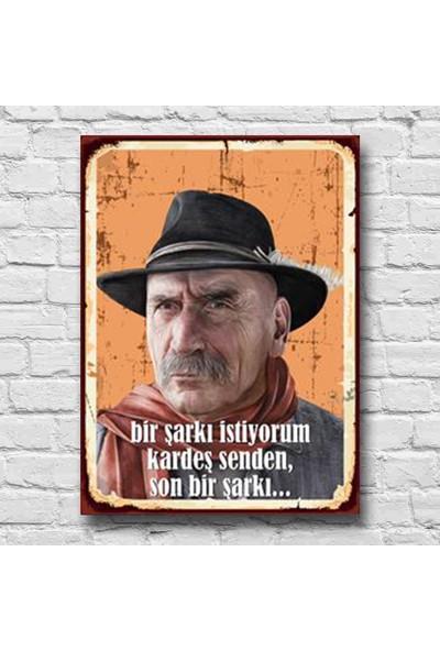 Afili Tüncay Kurtiz Son Bir Şarkı Istiyorum Ahşap Poster 22 x 30 cm
