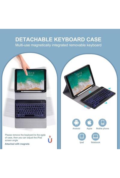 Turotto Apple iPad Pro 10.5 A1701 A1709 A1852 Seri Bluetooth Özellikli Klavyeli Kılıf Siyah