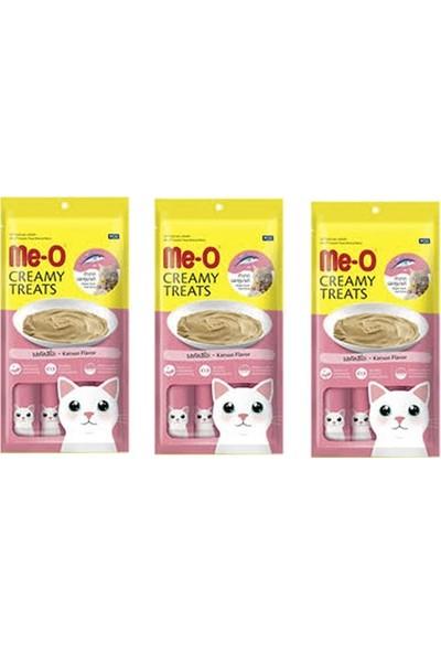 Me-O Creamy Treats Çizgili Orkinos Balıklı Sıvı Kedi Ödül Maması (4 x 15 Gr) x 3 Adet