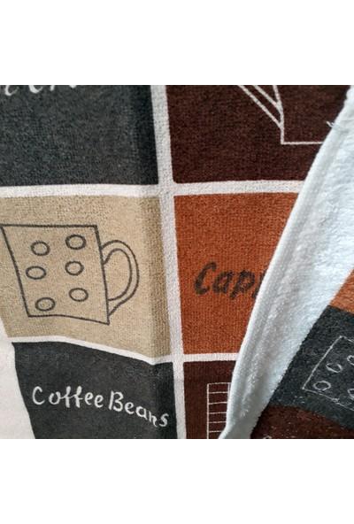 Yavuz Tekstil Sıvı Geçirmez Mutfak Önlüğü 2'li Set Cup Coffee