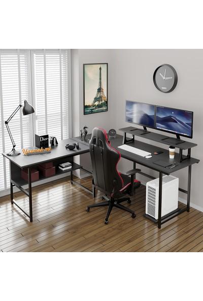 Yasmak Siyah L Masa, Oyun Masası, L-Tipi Bilgisayar Masası