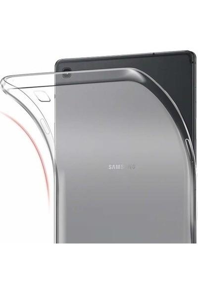 Tekno Grup Samsung Galaxy Tab A7 10.4'' T500 2020 Kılıf Darbe Emici Silikon Kılıf Şeffaf + Cam Ekran Koruyucu