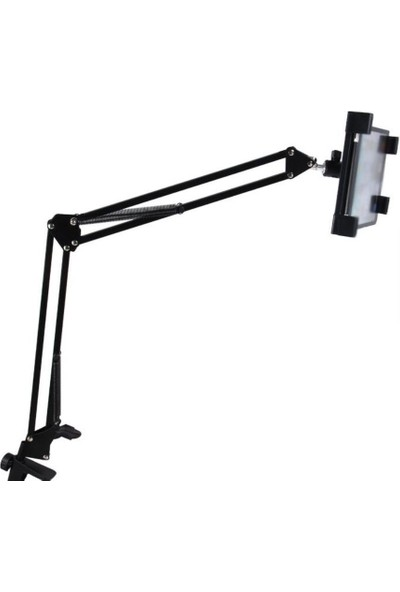 """Sge Teleskopik 360"""" Dönebilen Mandallı Metal Universal Tablet ve Telefon Tutucu"""