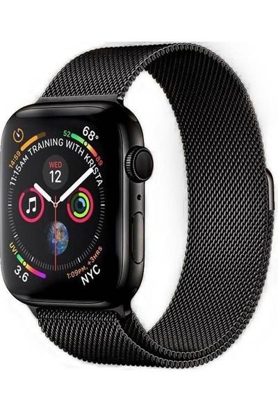 Ferro Apple Watch Uyumlu Akıllı Saat Hasır Kordon 42-44 mm
