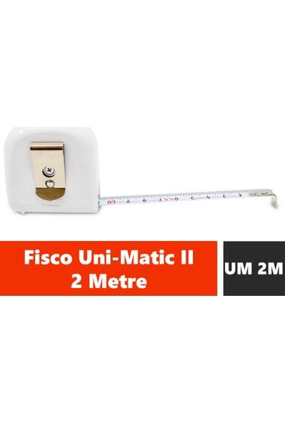 Fisco Uni-Matic II | 2 Metre Çelik Kısa Şerit Metre | UM 2M