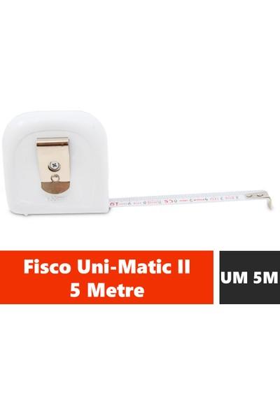 Fisco Uni-Matic II | 5 Metre Çelik Kısa Şerit Metre | UM 5M