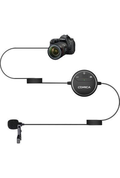 Comica CVM-V03 Sıg-Lav Telefon Dslr Kamera Kablolu Yaka Mikrofonu