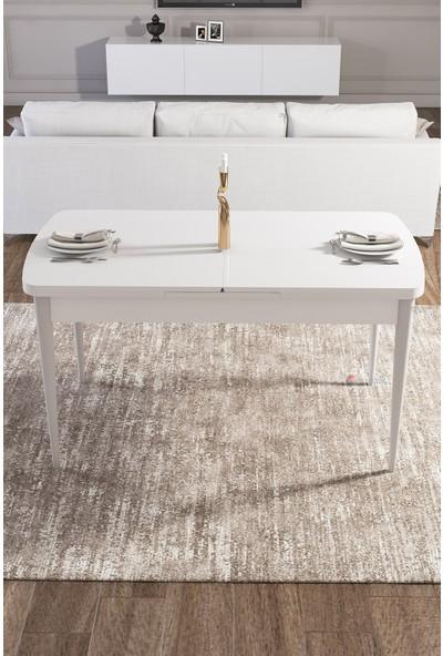 Rovena Vera Serisi Mdf Beyaz Mutfak Masası Takımı + 8 Adet Sandalye