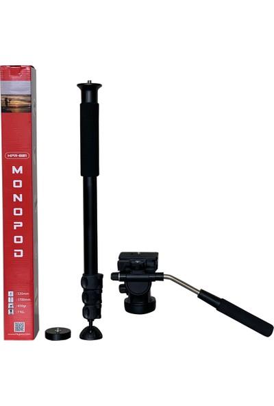Cazip Shop HPR-801 Hidrolik Head Profesyonel Video Monopod 180CM