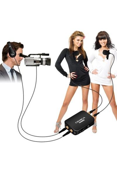 Comica CVM-D03 Çift Kafalı Mono Stereo Ayrılabilir Yaka Mikrofon