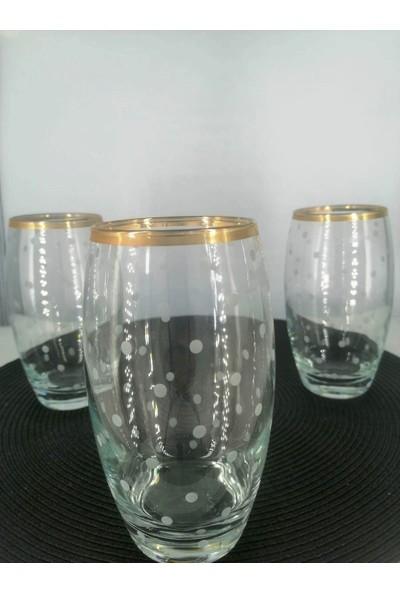 Lav EMP368/KS Uzun El Dekor Altın Kesme 3'lü Meşrubat Bardağı