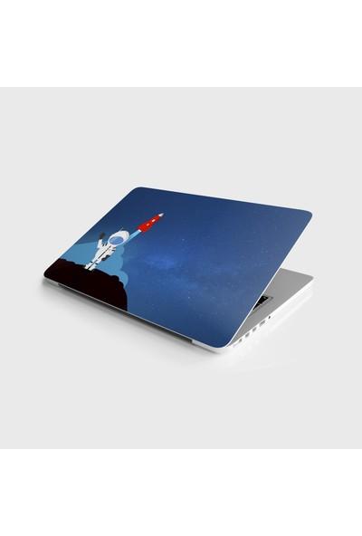 Jasmin2020 Çıkarılabilir Laptop Sticker Notebook Kaplama Etiketi Astronot 7 Model