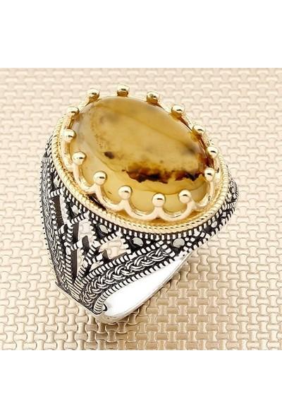 Keskin YMN-022 Yemen Akık Erkek 925 Ayar Gümüş Yüzük