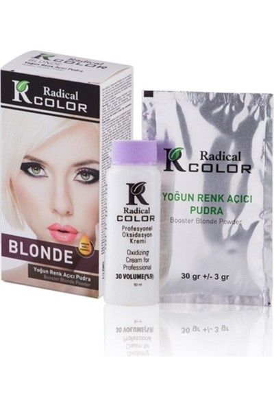 Radical Color Gri Amonyaksız Su Bazlı Saç Boyası 250ml 2SET