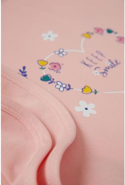 DeFacto Kız Bebek Çiçek Baskılı Örme Battaniye