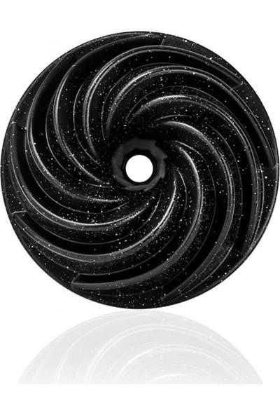 Trend Dünyam Döküm Kek Kalıbı Granit Kaplama Rüzgar Gülü Siyah