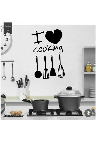 Nt Handmade I Love Cooking Lazer Kesim Tablo