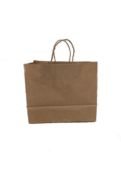 Yonca Tanıtım Kraft Kağıt Çanta 25 Adet 30 * 27 cm