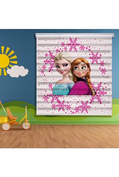 Sed Sistemevdekorasyon Elsa ve Anna Çocuk Odası Zebra Perde