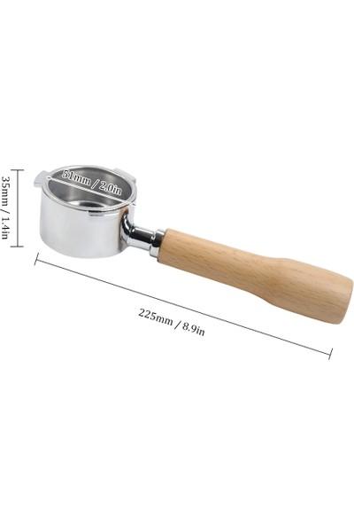 Buyfun 51 mm Kahve Dipsiz Portafilter Filtre Sepeti ve Delonghi