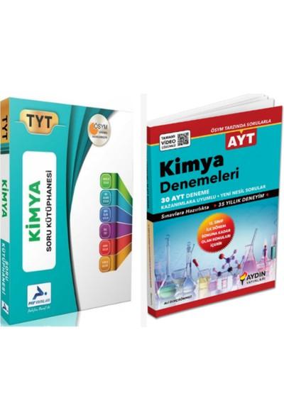 Paraf Yayınları TYT Kimya Soru Kütüphanesi ve Aydın Yayınları AYT Kimya Denemeleri