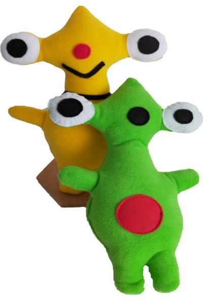 Berselüx Peluş Oyun V Uyku Arkadaşım Sevimli Sid Ikili Yeşil ve Sarı Iki Adet 36CM