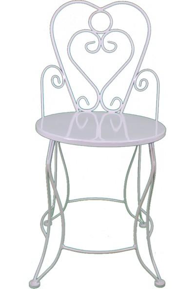 Naz Tasarım Ferforje Sandalye Beyaz