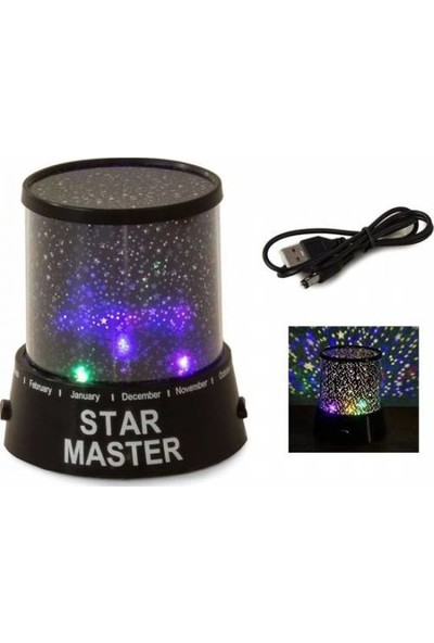 Turkish A2Z Star Master Yıldızlı Gece Lambası Projeksiyon Tavan Işık Yansıtma Yeni Nesil Gece Lambası