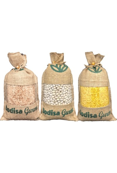 Bodisa Gurme Avantajlı 3 Lü Paket (Ispir Şeker Fasulye, Bafra Kızıl Pirinç, Mardin Sarı Mercimek) Set 3 kg