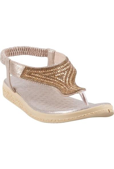 Crash 7201 Kadın Sandalet Altın