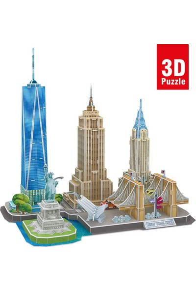 Cubic Fun City Line Serisi New York City 3D Puzzle