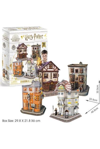 Cubic Fun Harry Potter Diagon Yolu (4 Bina) 3D Puzzle