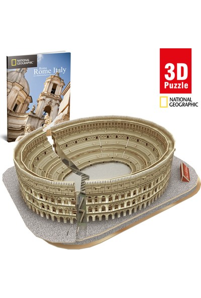 Cubic Fun National Geographic Serisi Colosseum 3D Puzzle