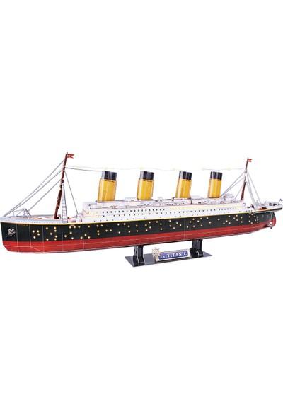 Cubic Fun Titanic LED Işıklı 3D Puzzle