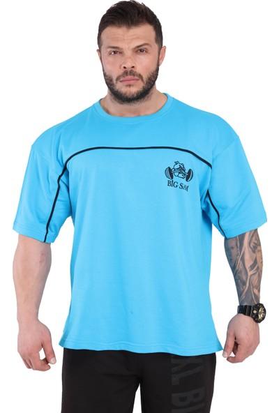 Big Sam Oversie Spor T-Shirt Geniş Kesim Pamuklu Big Sam 2803