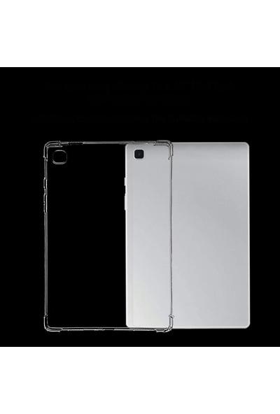Gpack Samsung Galaxy Tab A7 Lte Sm T507 10.4 Kılıf Antishock Darbe Dayanıklı Şeffaf Silikon Renksiz