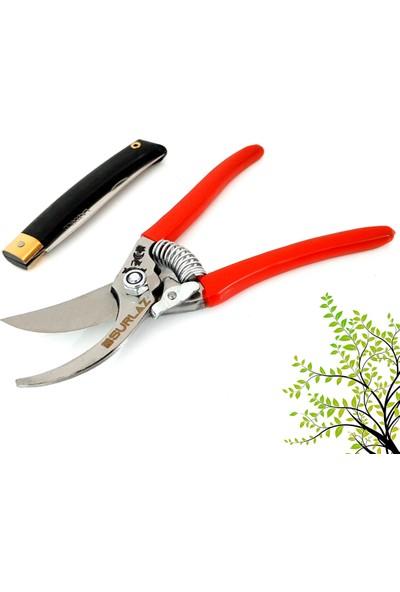 Snr Bağ Bahçe Budama Makası & Çakı Bıçak 2'li Set