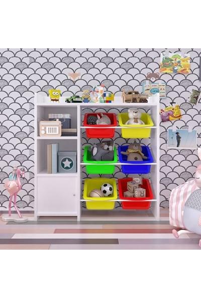 Nwin Home Anadolu Kitaplıklı Oyuncak Dolabı 6 Sepetli