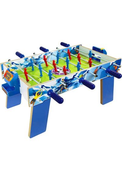 Matrax Oyuncak Ahşap Masa Maçı Ayaklı 3 Kollu