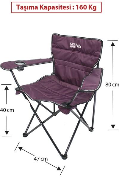 Graywolf Quatro Katlanır Lüks Kamp Sandalyesi - Balıkçı Sandalyesi