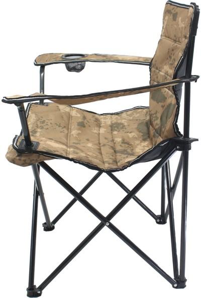 Graywolf Katlanır Lüks Kamp Sandalyesi - Balıkçı Sandalyesi (Çöl Kamuflaj)