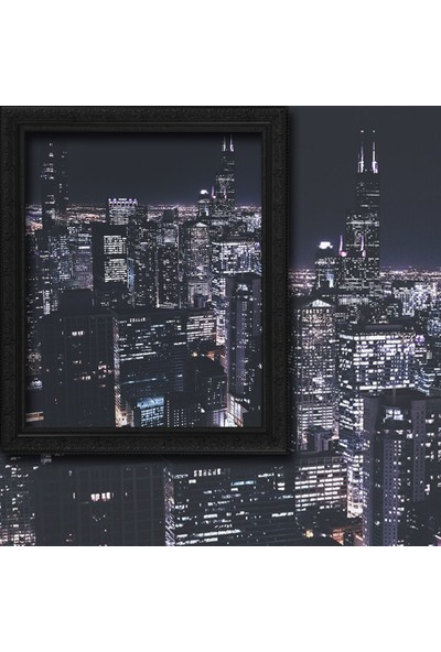 Cipcici Şehir Işıkları 140 x 260 cm Tek Kanat Fon Perde